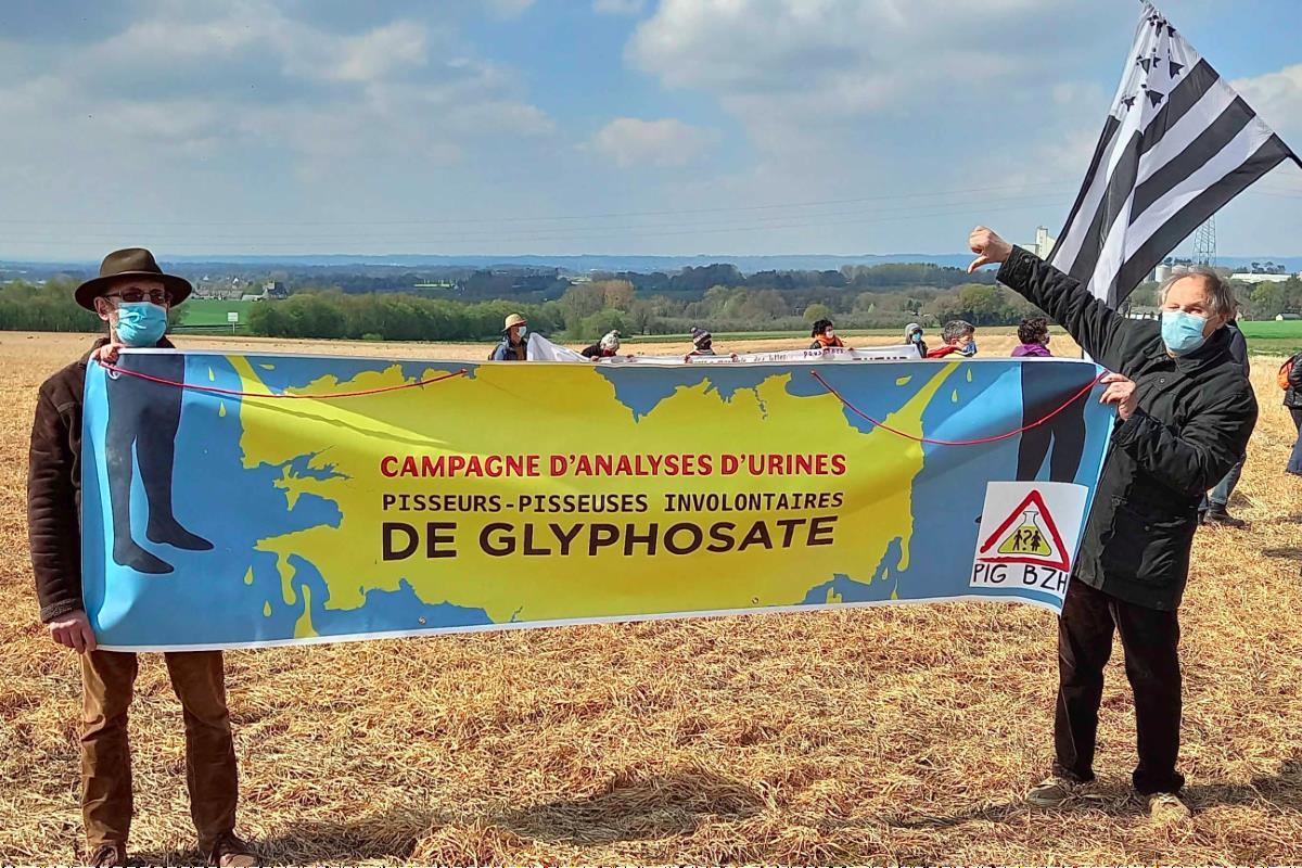 mobilisation des pisseurs de glyphosate